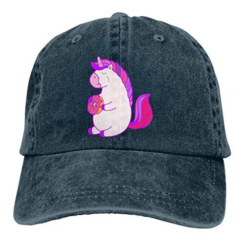 Aegatelate- Llama Donut Unisex Washed Twill Cotton Baseball Cap Vintage Adjustable Hat