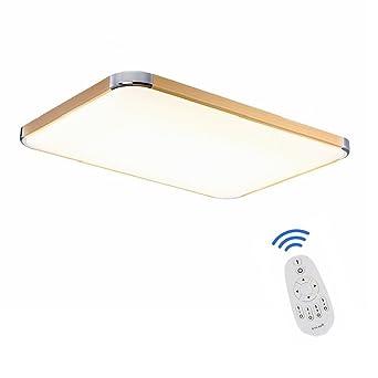 SAILUN 48W Dimmbar LED Modern Deckenleuchte Deckenlampe Flur Wohnzimmer Lampe Schlafzimmer Kche Energie Sparen Licht Golden