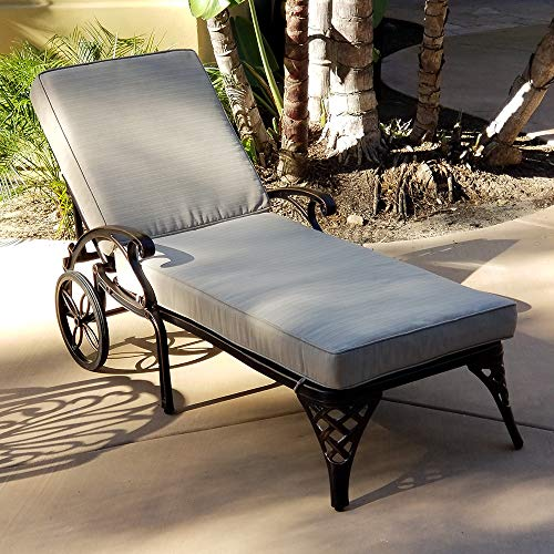 Modern Home Cardiff Cast Aluminum Chaise Lounge