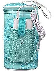 Portable USB Heating Baby Bottle Warmer Bag Travel Car Baby Bottle Warmer Drink Warm Milk Insulation Bag