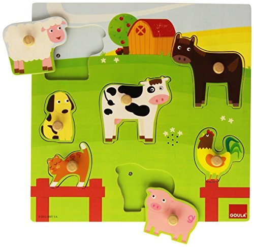 Goula 53081-Farm Wooden Puzzle-sound by Goula