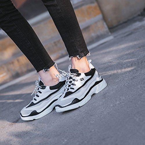 para Zapatillas 38 Deporte Mujer para Informales Mezclados Deporte Zapatillas Seasons de Zapatos Zapatos Mujer tamaño Negro de Color Four Colores rA0qr