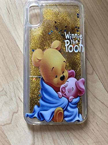 (Winnie The Pooh Bling Sparkle Liquid Glitter Quicksand Case For iPhone XR- Ship From NY)