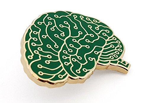 Pinsanity Digital Brain Enamel Lapel Pin