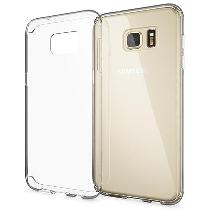 NALIA Handyhülle kompatibel mit Samsung Galaxy S7 Edge, Slim Silikon Motiv Case Hülle Cover Crystal Schutzhülle Dünn Durchsic