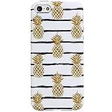 Pineapples iPhone 5 Case ,iPhone 5s Case,iPhone SE Case, VIVIBIN Shock Absorption IMD Soft TPU Gel Case for iPhone 5/5s/SE-NOT for iPhone 5C (Pineapples#2-034)