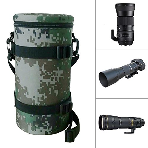 Timefoxy Camera Lens Cover Camera Padded Bag DSLR Camera Lens Case for TAMRON 150-600mm/Nikon 200-500mm Lens and Sigma 150-600mm by Timefoxy