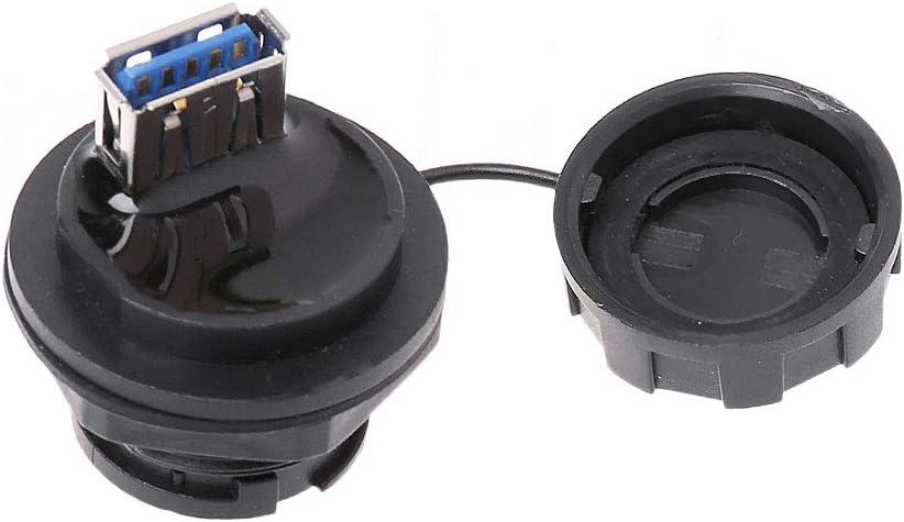 siwetg Adaptateur de Prise USB Femelle avec Capuchon IPL7 2