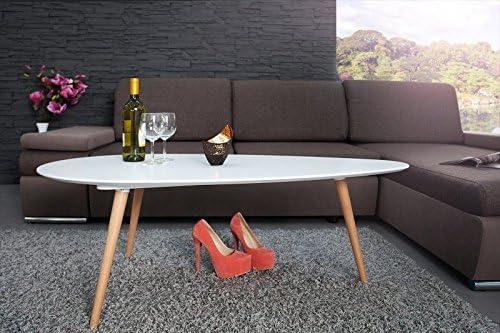 Dunord Design Coffee Stockholm White 115 Cm 70 S Retro Design Kidney Shaped Coffee Table Amazon De Kuche Haushalt