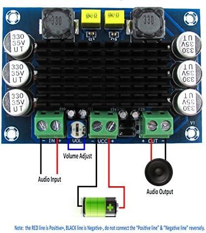Amazon Com Yeeco Tda7850 Amplificador De Potencia De Audio Digital Ampli Tabla Hifi Audio Estéreo Amplificar 50 Wx4 Canal Dc 12 16 V Amp Junta Con Ventilador De Refrigeración Para Sistema De