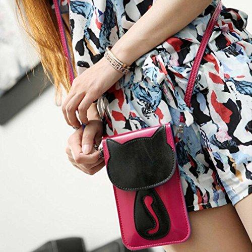 Ouneed Cuir Sac Telephone a Chaine Noir Souple Femmes Phone Smart Bag en Main Mini rUSxZr
