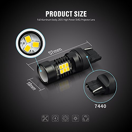 SiriusLED-Super-Bright-Projection-White-Red-Amber-Turn-Signal-Break-Tail-LED-Light-Bulb-1156-1157-3157-7440-7443-T20