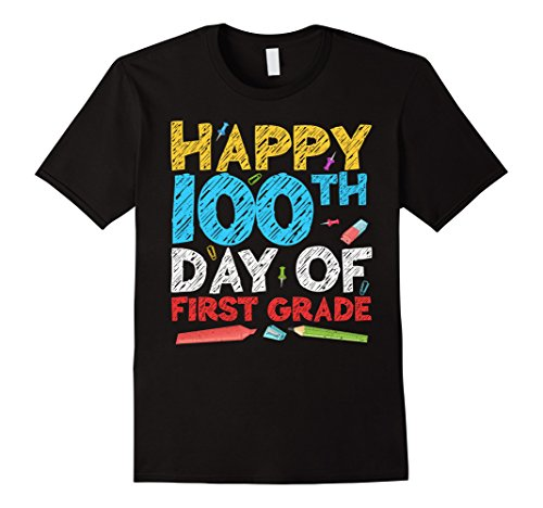 Happy 100th Day Of First Grade T-Shirt 1st Grade School Gift