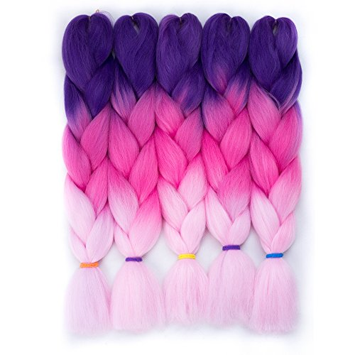 (5pcs/Lot Jumbo Box Braiding Hair For Twist 24