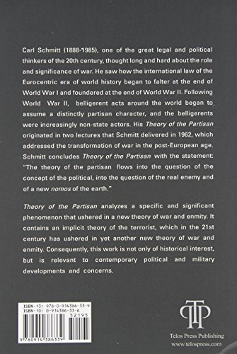 Theory of the Partisan: Intermediate Commentary on the Concept of the Political - http://medicalbooks.filipinodoctors.org
