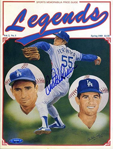 OREL HERSHISER Coa Autograph Legends Magazine Hand Signed Authentic Tristar Productions Certified Autographed MLB Magazines