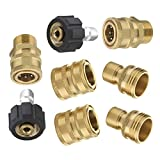 "Mingle Ultimate Pressure Washer Adapter Set, Quick Disconnect Kit, M22 Swivel to 3/8'' Quick Connect, 3/4"" to Quick Release, 8-Pack"