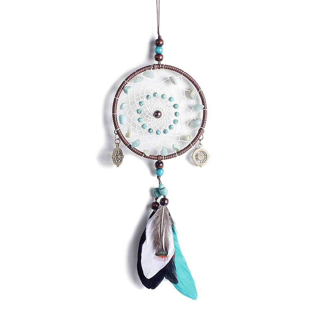 DALU.A.F Boho Native American Indian Dream Catcher Handmade Brown Feather Dreamcatcher Wall Hanging Decoration Ornaments, 1 Towering Arrogant Tr