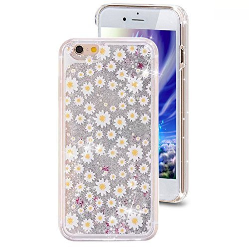 Sand Daisies (iPhone 6 6S Quicksand Liquid Case, Surpriseyou 3D Creative Bling Shine Glitter Sparkle Liquid Adorable Flowing Floating Moving Sand Case for iPhone 6 & iPhone 6S (Daisy))