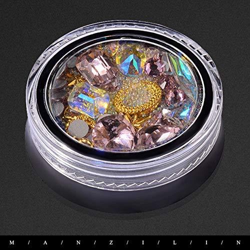 ABS Strass Kristall Diamant Schmuck Diamant 3D DIY Nagel Zubehör Lovelysunshiny