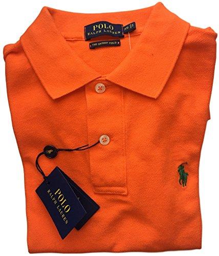 Ralph Lauren Womens Skinny Polo Pony Logo T-Shirt (L, - Lauren Ralph Orange