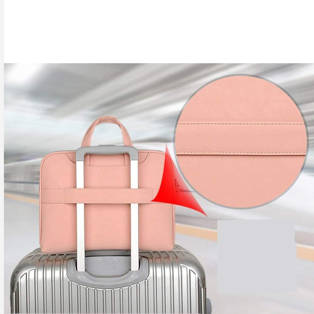Color : Green, Size : 15.6inch DANHCHUN Simple Style Shockproof Computer Bag Hand Shoulder Bag Briefcase Black//Gray//Green//Pink