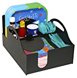 Paper Plate, Napkin, Forks, Spoon and Condiment Organizer for Picnics & Parties. Great in The Kitchen or at the Office. Proudly Made in the USA! by PPM.
