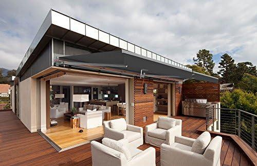 Toldo motorizado y manual para terraza – Gris piedra metálico – gris -, gris oscuro, 4 x 3,5 m: Amazon.es: Hogar