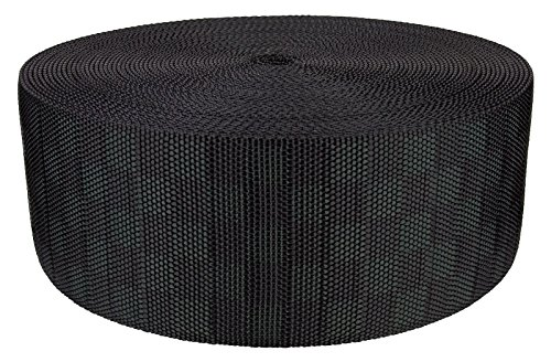 3 Inch Black Checkerboard Heavy Nylon Webbing Closeout, 50 Yards by Unknown