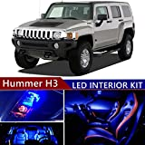 hummer h3 lights - Hummer H3 2006-2010 LED Premium Blue Light Interior Package Kit ( 13 pcs )