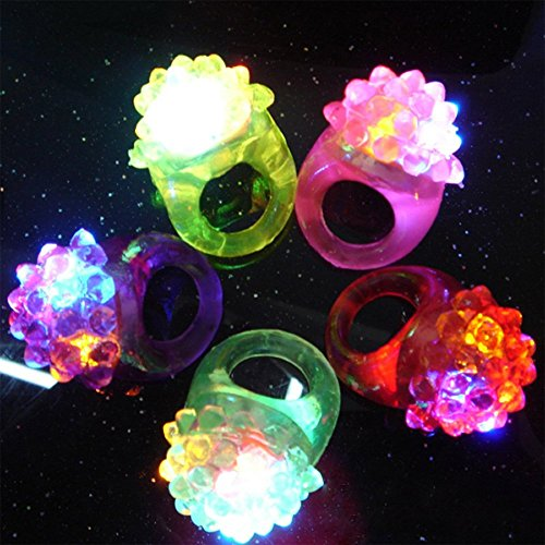 Rhode Island Novelty Flashing LED Bumpy Ring (Novelty Rings)