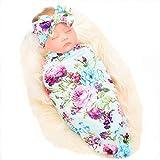 Galabloomer Newborn Receiving Blanket Headband