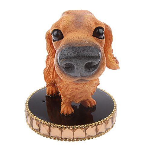 LOVIVER Bobbing Head Dog Perfume Diffuser Car Dashboard Decors Shaking Head Animal Figure Toys - Irish Setter