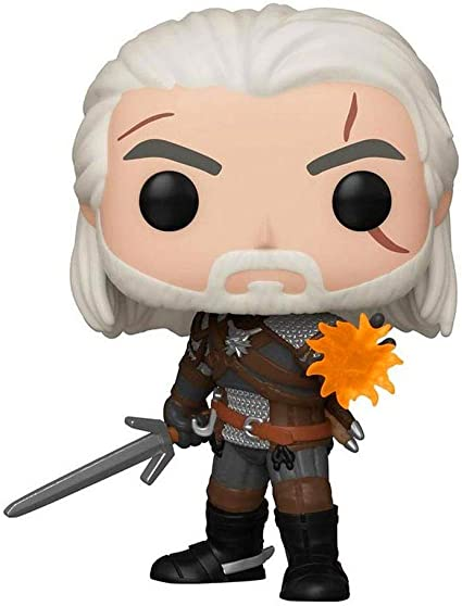 Funko Witcher Geralt Figurine Pop avec protecteur