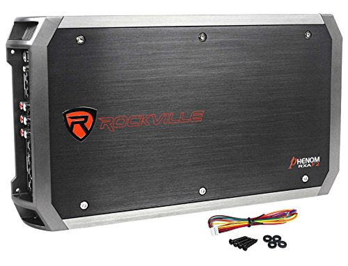Rockville RXA-F2 2400 Watt Peak / 1200w RMS 4 Channel Amplifier Car Stereo Amp 2400 Watt Power Amplifier