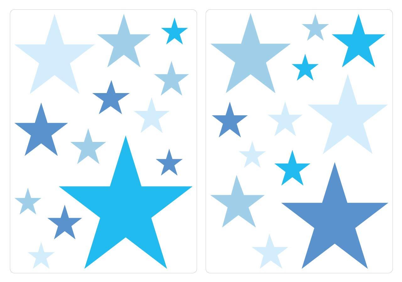Sticker mural kit /étoiles bleues pour gar/çon coller