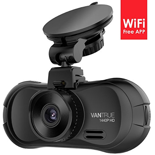 Vantrue X3 WIFI Dash Cam, Super HD 2.5K Car Dashboard Camera Recorder with Ambarella A12 Chipset, 170 Degree Wide View Angle, Super HDR Night Vision and Loop Recording