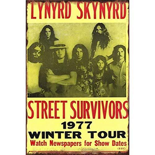 (Lynyrd Skynyrd Street Survivors Iron Sheet Beer Bar Vintage Decoration Sign Metal Rock Roll Wall Sign Funny Retro Plaque Art Crafts Cafe Hanging Artwork Samp Poster Painting)