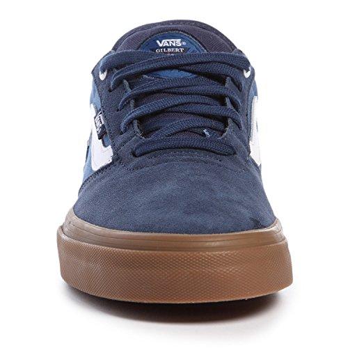 Vans Gilbert Crockett Pro Mens Taglia 7 Scarpe Da Skateboard Blu Gomma Bianca