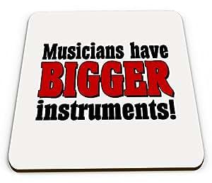 Más Instrumentos (músicos) divertido novedad brillante taza posavasos