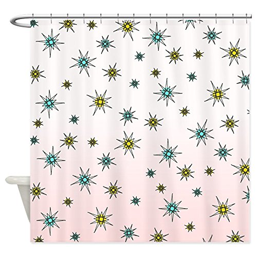 CafePress – 1950S Starburst – Decorative Fabric Shower Curtain (69″x70″) 51oBf8jF 2BTL
