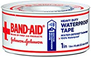 Band-Aid Heavy Duty Waterproof Tape 1 Inch x 10 yards, Pack of 2