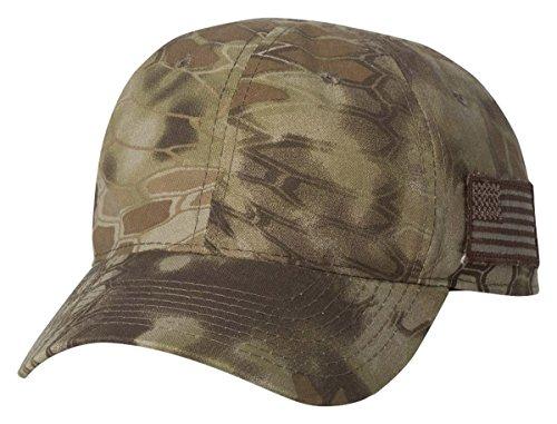 Kryptek Tonal Side American Flag Cap, Kryptek Highlander Camo - Cap Camo Stretch