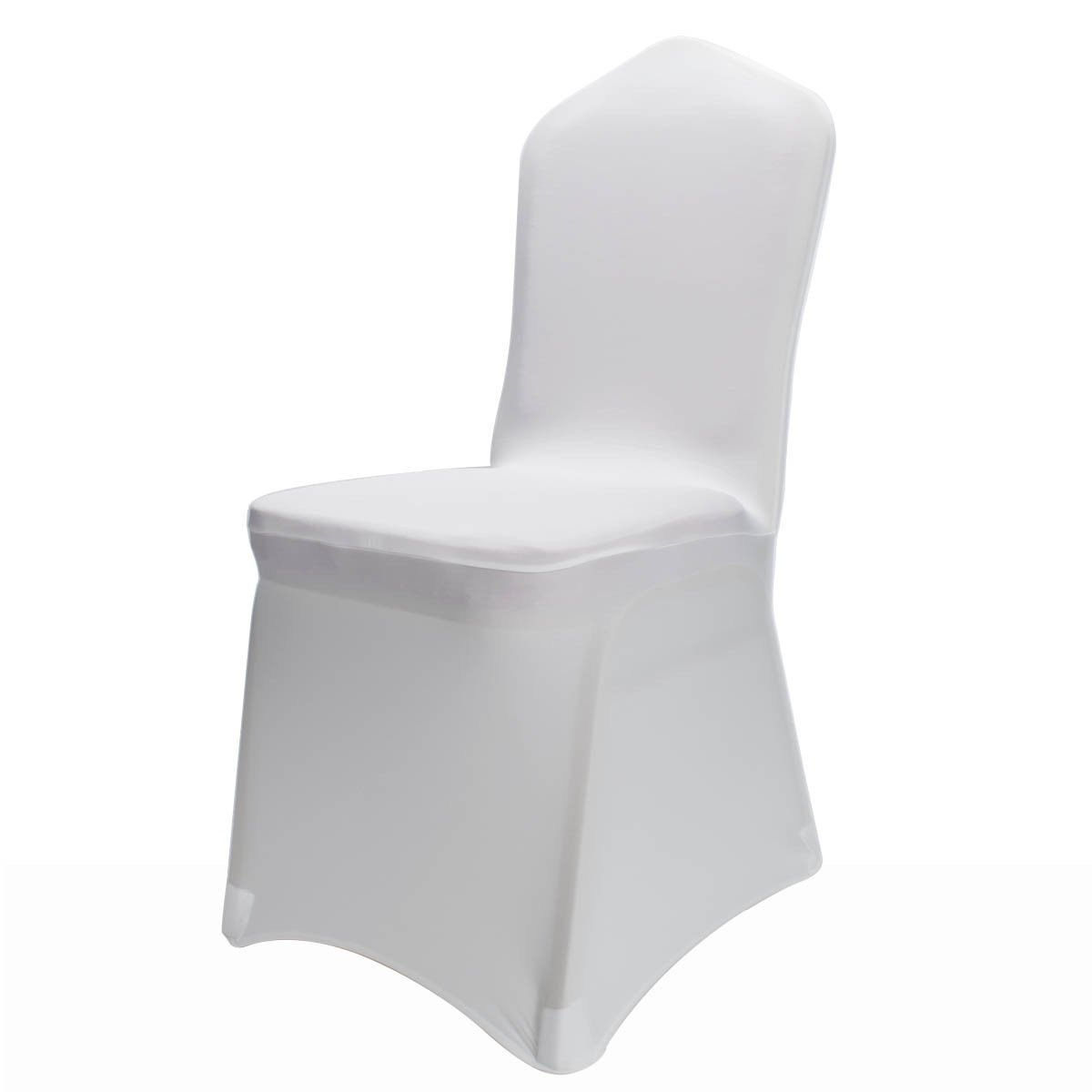 100 Spandex Lycra Wedding Chair Covers White Trimming Shop