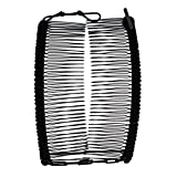 Banana Clip by HairZing - Double Comb for Thick, Curly, Kinky Hair - Put Your Hair Up in Seconds with No Damage, Creases, or Pain - Comfy UpDo, Ponytail, French Twist, Bun (Banana, Black Large)