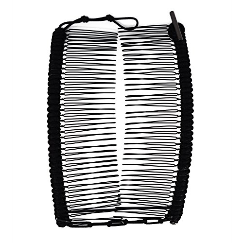 - Banana Clip by HairZing - Double Comb for Thick, Curly, Kinky Hair - Put Your Hair Up in Seconds with No Damage, Creases, or Pain - Comfy UpDo, Ponytail, French Twist, Bun (Banana, Black Large)