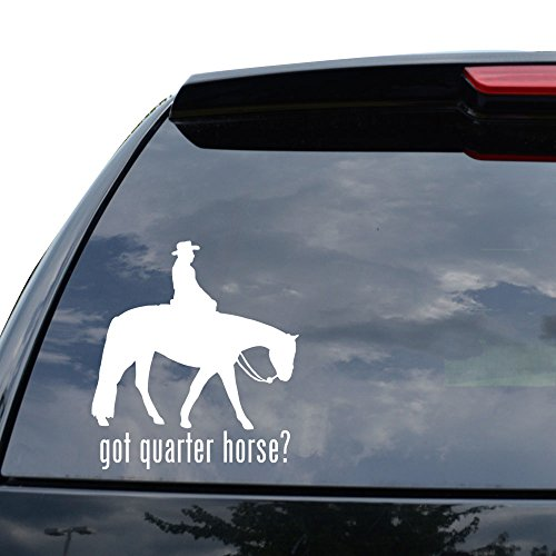GOT QUARTER HORSE HORSE Decal Sticker Car Truck Motorcycle Window Ipad Laptop Wall Decor - Size (05 inch / 13 cm Tall) - Color (Matte - Window Motor Quarter