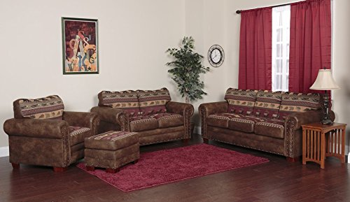 American Furniture Classics Model Two Piece Sofa sectional brown pinto