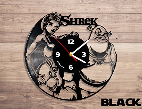 Shrek movie vinyl record wall clock, shrek wall decor, shrek