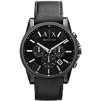 Armani Exchange Men's AX2098  Black  Leather Watch
